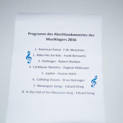 Abschlusskonzert 2016